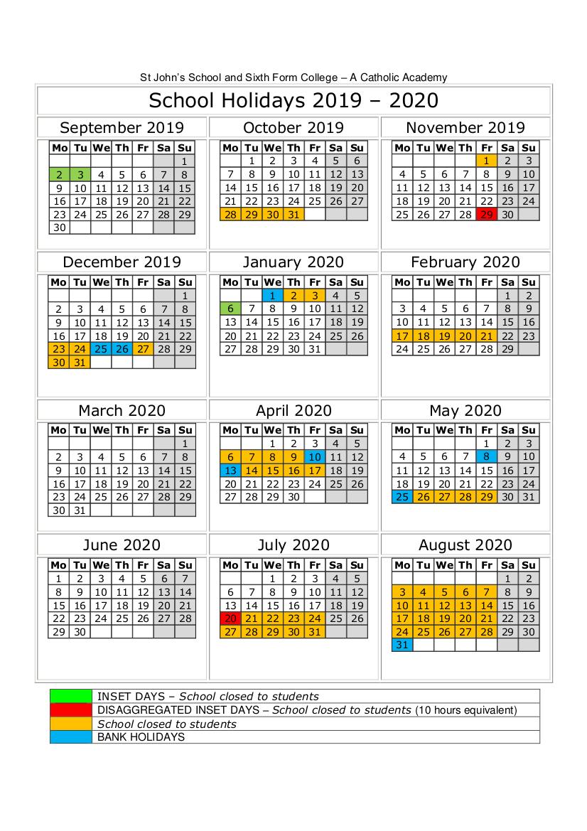 Term Dates | St John's