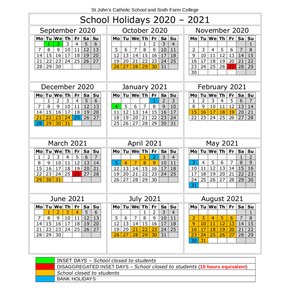 Easter 2021 Holidays